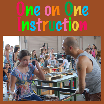 One on one instruction